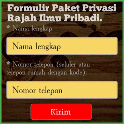 Formulir Paket Privasi Rajah Ilmu Pribadi